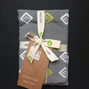 West Elm Euro Shams Organic Cotton Gray Set 2